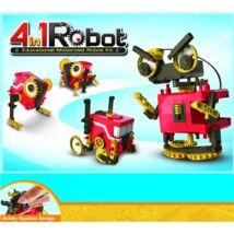 4 in 1 motorizált robot építő szett