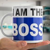 I'm the boss - Én vagyok a főnök óriás bögre