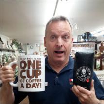 """""""Egy csésze kávé"""" 1,9 literes óriás bögre"""