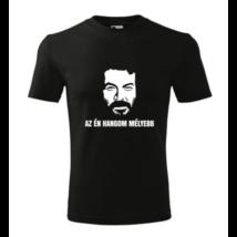 Az én hangom mélyebb – Bud Spencer póló fekete