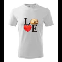 LOVE feliratos póló cicával
