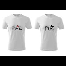 Mr és Mrs páros póló