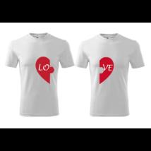 Szíves LOVE páros póló