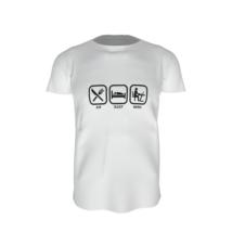 Otthon dolgozós póló fehér