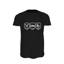 Otthon dolgozós póló fekete