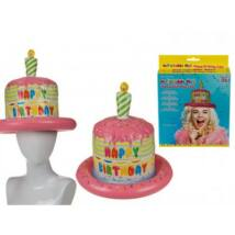 ajándék; lifetrend.hu; szülinapos, kalap, torta, tortakalap, felfújható