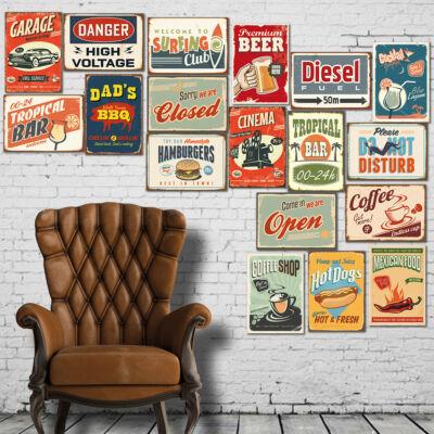 retro; retró; matrica; falmatrica; falimatrica; dekoráció; vintage; dizájn; díszítés; dekor; stílus; ajándék; dísz;
