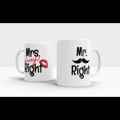 lifetrend.hu, bögre, páros bögre, pároknak, Mr, Mrs, Mr Right, Mrs Always Right
