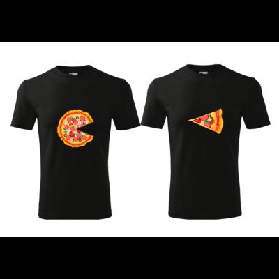 ajándék, egyedi, vicces, póló, páros póló, pizza, szerelmes, valentin nap