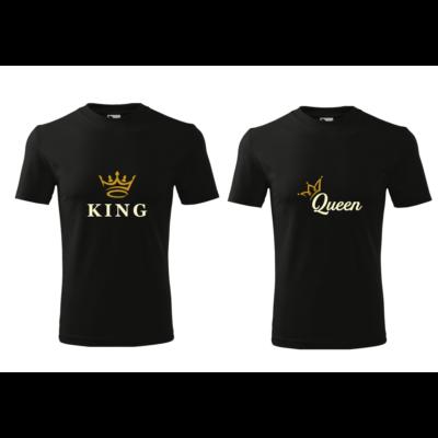 ajándék, egyedi, vicces, póló, páros póló, queen, king, király, királynő, szerelmes, valentin nap